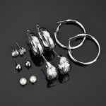 Arihant Delicate Leaf Pearl & AD Fabulous 6 Pair of Stud & Drop Earrings For Women/Girls PC-ERG-143