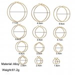 Arihant Elegant Steampunk Round Small to Big 12 Pair of Hoop Earrings For Women/Girls PC-ERG-146