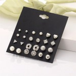 Arihant Limited Edition AAA AD Heart Round and Geometric Brilliant 12 Pair of Stud Earrings For Women/Girls PC-ERG-150