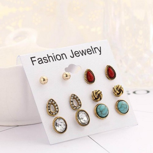 Arihant Combo of 6 Pair Gold Plated Earrings PC-ER...