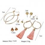 Arihant Combo of 6 Pair Gold Plated Earrings PC-ERG-159