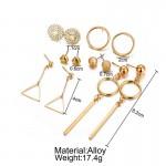 Arihant Combo of 6 Pair Gold Plated Earrings PC-ERG-163