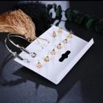 Arihant Combo of 6 Pair Gold Plated Earrings PC-ERG-164
