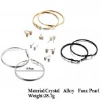 Arihant Combo of 9 Pair Copper Plated Hoop & Stud Earrings PC-ERG-168