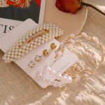 Arihant Bangles Trending Set of 4 Stud & Hoop Earrings With a Pearl Clature