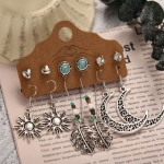 Arihant Bangles Tantalizing AD Oxidised German Silver Plated 6 Pair of Earrings For Women/Girls
