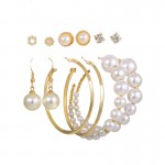 Arihant Jewellery For Women Gold Plated Gold Toned Pearl Earrings Combo Set