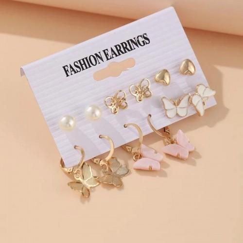 Arihant Gold Plated Studs Earrings Combo For Women...