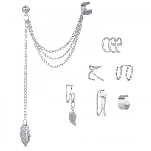 Arihant Jewellery For Women Silver Plated Earcuffs...