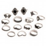 Arihant Combo of 15 Silver Plated Mixed Sized Rings PC-RNG-901