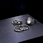 Arihant Combo of 16 Silver Plated Mixed Sized Rings PC-RNG-902