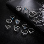 Arihant Combo of 13 Silver Plated Mixed Sized Rings PC-RNG-904