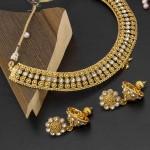 Arihant American Diamond Antique Necklace Set