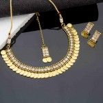 Arihant Coinage Collection AD Traditional Necklace Set with Maang Tika