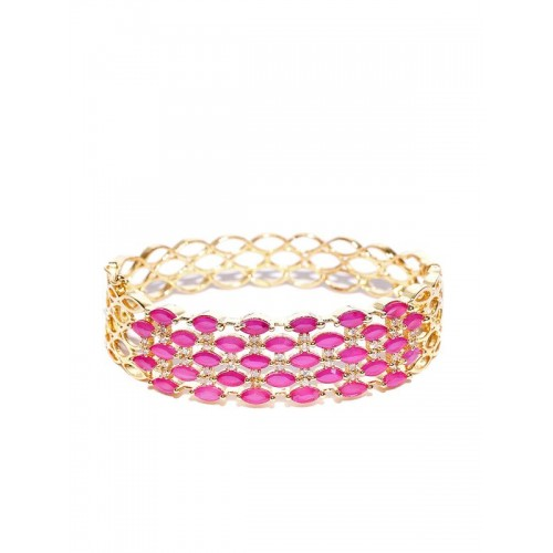 Gold Plated Antique Pink AD Bracelet 17006