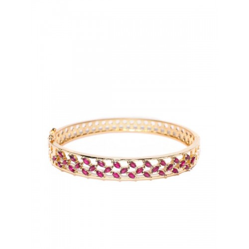 Gold Plated Pink Traditional AD Bracelet