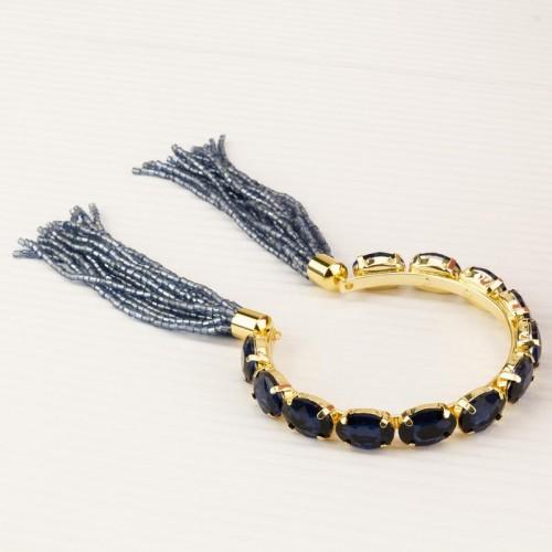 Arihant Blue Handcrafted Cuff Bracelet