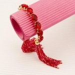 Arihant Red Handcrafted Cuff Bracelet