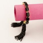 Arihant Black Handcrafted Cuff Bracelet