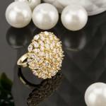 Arihant Gold Toned Stone Studded Adjustable Ring