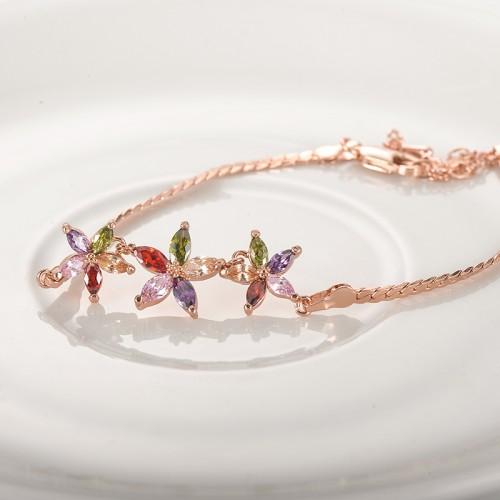 Arihant Rose Plated Multicolour CZ Bracelet