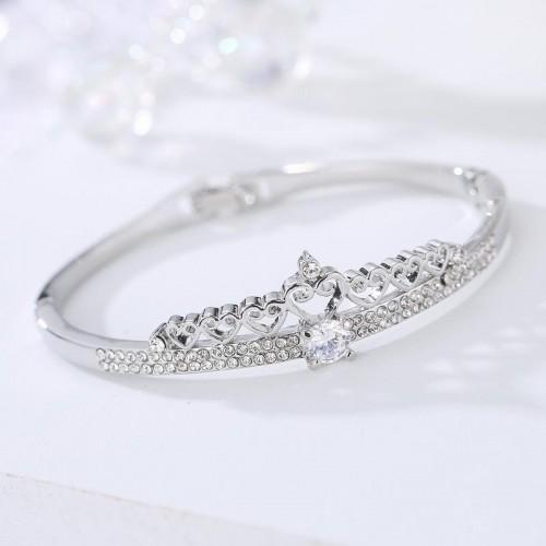 Arihant Rose Plated Silver American Diamond Bracel...