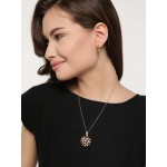 Gold Plated Cubic Zirconia Star Shaped Pendant Set 4090