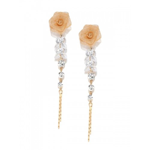 Rose Gold Plated American Diamond Rose inspired Dr...
