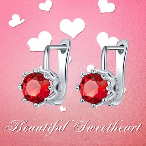 Arihant Platinum Plated Crystal Stud Earrings 2203