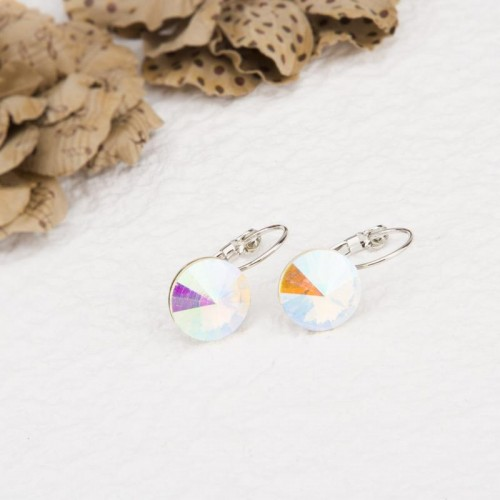 Arihant Platinum Plated Crystal Clip-On Earrings 2...
