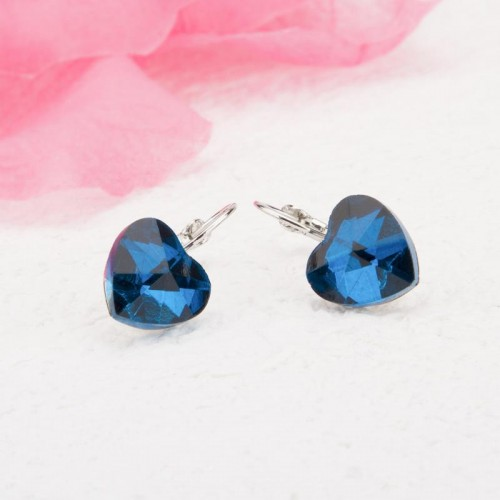 Arihant Platinum Plated Heart Shape Crystal Clip-O...