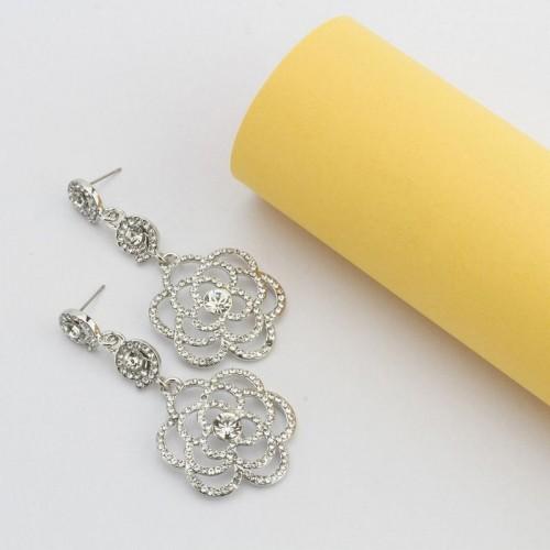 Arihant Platinum Plated American Diamond Floral Dr...