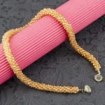 Arihant Gold Toned Silver Plated Beaded Handcrafted Necklace