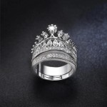 Arihant Amazing AD Crown Inspired Silver Plated Brilliant Ring For Women/Girls