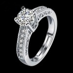 Arihant Wonderful Crystal Silver Plated Amazing Ring For Women/Girls 5175