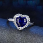 Arihant Ravishing Heart Crystal Silver Plated Brilliant Ring For Women/Girls 5176