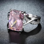 Arihant Sparkling Crystal Silver Plated Glitzy Ring For Women/Girls 5178