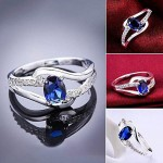Arihant Ravishing AD & Crystal Silver Plated Trendy Ring For Women/Girls 5180