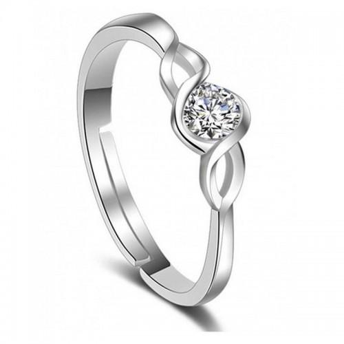 Arihant Delicate American Diamond Silver Plated El...