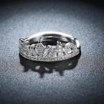 Arihant Amazing Zircon Crown Silver Plated Swanky Adjustable Ring For Women/Girls 5183