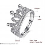 Arihant Amazing Zircon Crown Silver Plated Swanky Adjustable Ring For Women/Girls