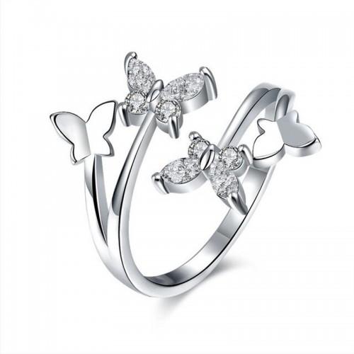 Arihant Elegant Butterfly Crystal Adjustable Ring ...
