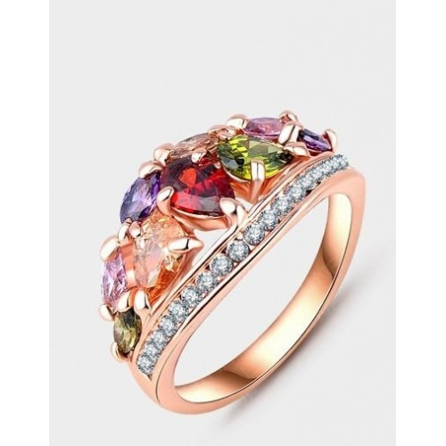 Arihant Multicolour Cubic Zirconia Fashion Ring